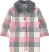 Il Gufo Woollen cloth coat and fur