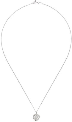 Love Diamond Love DIAMOND Sterling Silver 12pt Diamond Heart Cluster Pendant Necklace