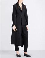 Yohji Yamamoto Asymmetric cotton and linen-blend coat