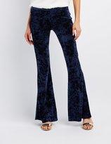 Charlotte Russe Velvet Flare Pants