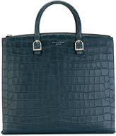 Aspinal of London Editors nubuck croc tote - women - Calf Leather - One Size