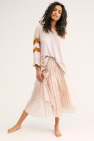 Free People Fp One Elisa Striped Midi Skirt by FP One at Free People, Chalk, XS