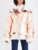 Marques Almeida Metallic shearling coat