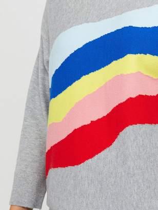 Monsoon Remmie Rainbow Jumper - Grey