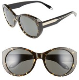 Victoria Beckham Women's Fine Oval 59Mm Sunglasses - Amber Tortoise/ Grey
