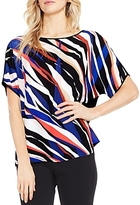 Vince Camuto Abstract Zebra Front Top