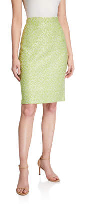 St. John Islandia Knit Pull-On Pencil Skirt