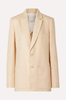 Tibi Oversized Linen Blazer - Neutral