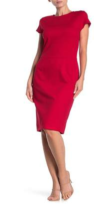 Love...Ady Solid Cap Sleeve Sheath Dress