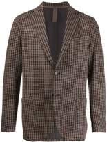Eleventy check fitted blazer
