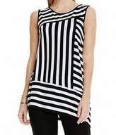 Vince Camuto Black White Women's Size XS Tank Cami Striped Top