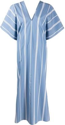 Jil Sander Striped Print Shift Dress
