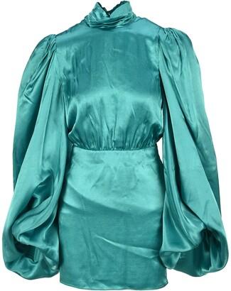 ATTICO Balloon Sleeve Mini Dress
