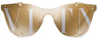 Valentino Frameless Mirrored Sunglasses