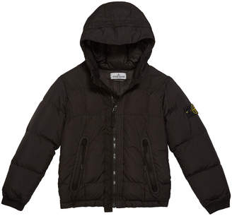 Stone Island Down Puffer Jacket with Hood, Size 12
