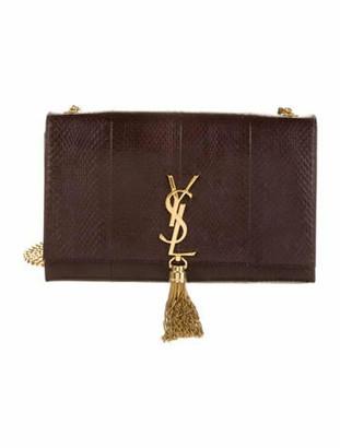 Saint Laurent Medium Embossed Kate Tassel Bag Gold