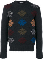 DSQUARED2 maple leaf detail jumper