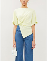 See by Chloe Knotted cotton-jersey T-shirt