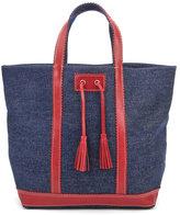 Vanessa Bruno Athe Women's Cabas Large Tote Bag Denim/Red