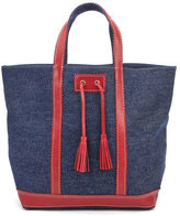 Vanessa Bruno Women's Cabas Large Tote Bag Denim/Red