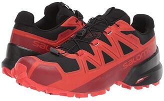 Salomon Spikecross 5 GTX(r) (Black/Racing Red/Red Dahlia) Athletic Shoes
