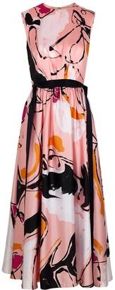 Roksanda Tibi printed silk-satin midi dress