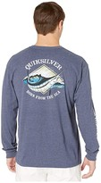Quiksilver Waterman Oceans Embrace Long Sleeve (Navy Iris Heather) Men's Clothing