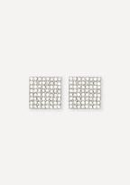 Bebe Crystal Square Earrings