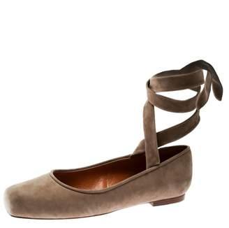 Ralph Lauren Beige Leather Ballet flats