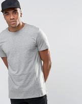 New Look New Look Crew Neck T-shirt In Grey Marl