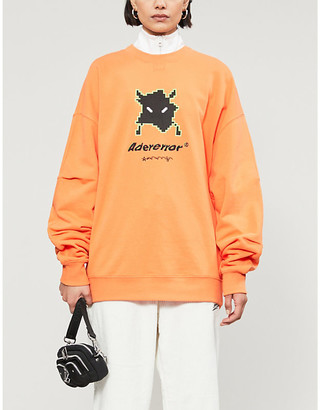 Selfridges Ader Error Graphic-print relaxed-fit cotton-jersey sweatshirt