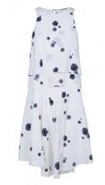 Tibi Cluster Dot Print Double Layer Dress