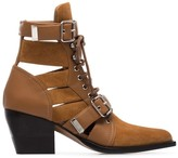 Chloé Rylee 60mm buckled suede boots