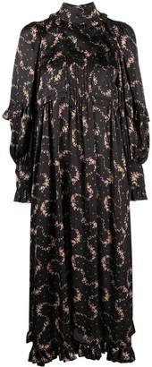 Paco Rabanne Floral Print Ruffle Detail Dress