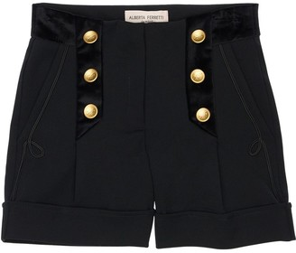 Alberta Ferretti Cool Wool Blend Shorts