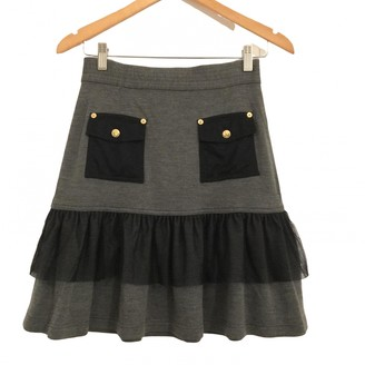 Luella Grey Wool Skirt for Women