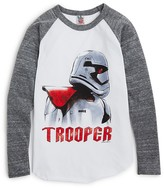 Junk Food Clothing Boys' Star Wars Trooper Rebel Raglan Tee - Sizes M-XXL