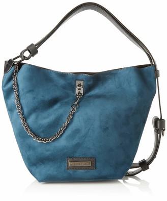Maria Mare Mariamare HELGA Womens Shoulder Bag Blue (Sof Petroleo/Negro) 18.50x31x21 centimeters (W x H x L)