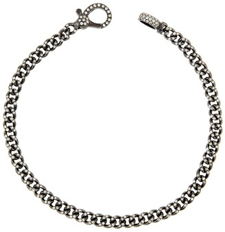 Shay Baby Pave Diamond Link Bracelet - Black Gold