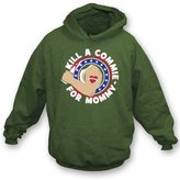TshirtGrill Kill A Commie For Mommy (As Worn By Johnny Ramone of The Ramones) Hooded Sweatshirt, Color