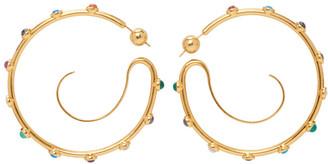 Panconesi Gold Upside Down Gem Hoop Earrings