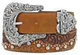 Tony Lama Women's Kaitlyn Crystal Leather Western Belt