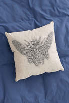 Urban Outfitters Embroidered Beetle Pillow