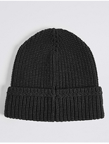 M&S Collection Ribbed Beanie Hat