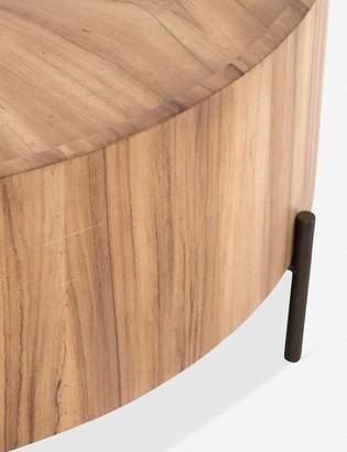Lulu & Georgia Nausica Drum Coffee Table, Reclaimed Oak