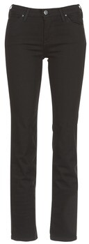 Lee MARION STRAIGHT women's Jeans in Black
