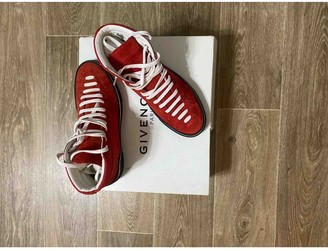 Givenchy Red Cloth Trainers