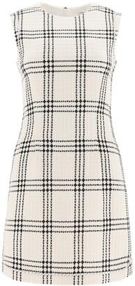 MSGM Checked Tweed Mini Dress