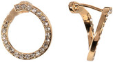 Vince Camuto Curled Pave Crossover Earrings
