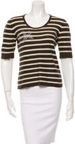 Sonia Rykiel Embellished Short Sleeve Top